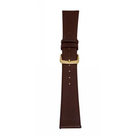 Men's Brown Genuine Leather Watch Band 20mm Regular
