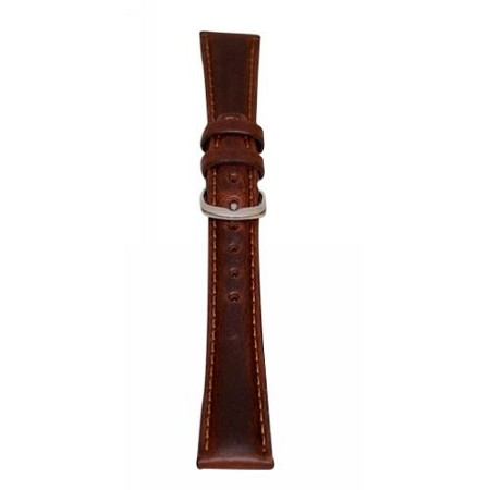 Men's Brown Oil Tan Leather Watch Band 16mm Regular