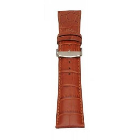 Men's Tan Alligator Grain Wide Watch Band 22mm