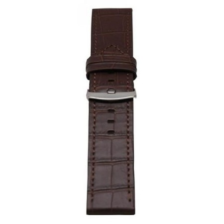 Men's Brown Alligator Grain Wide Watch Band 26mm
