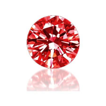 Red Cubic Zirconia - Round 2pc packs - 5.0mm - 6.5mm