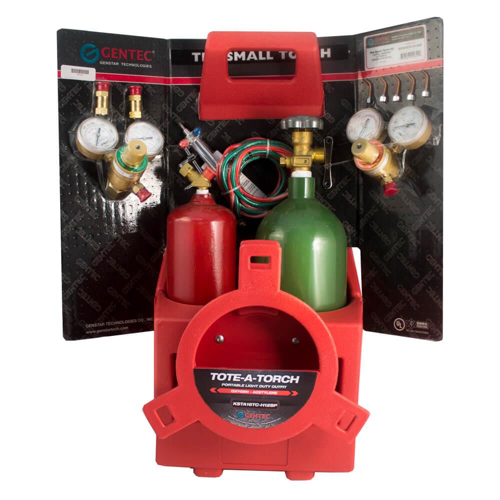 Gentec Small Torch Kit Oxy//Acetylene w//tip#2-6 and Regulators 14-510