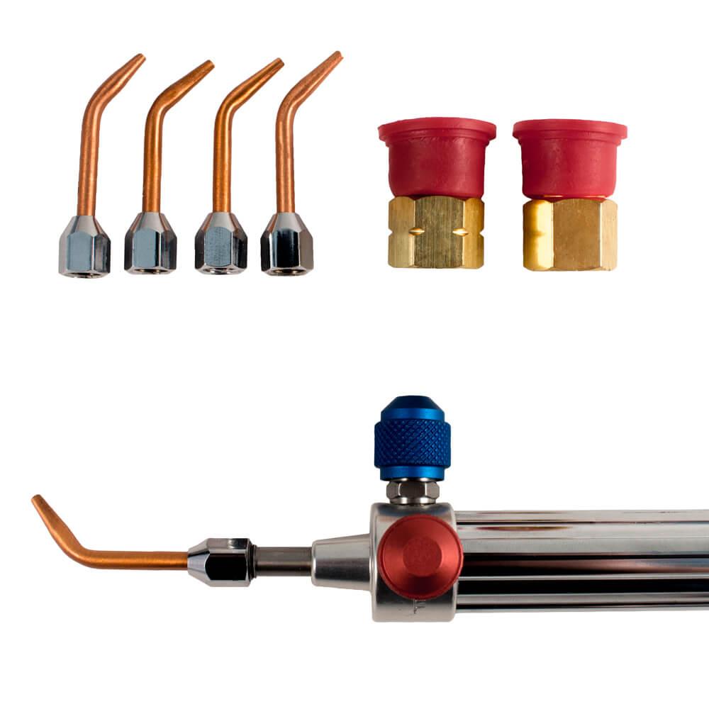 Gentec Small Torch Kit Oxy-Acetylene/Propane/Mapp Fuel- 5 Tips-12 Foot Hose