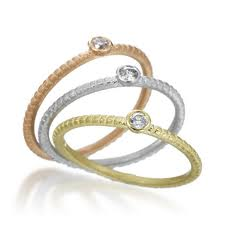 Tri Colored Gold Rings