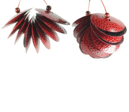 Embossed Paper Earrings