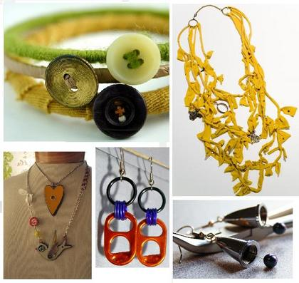 Upcycled jewelry ideas