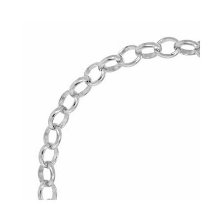 chain chains necklace steel stainless rolo inch