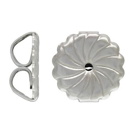 Earring Backs 92x94mm Jumbo Swirl 14k White Gold