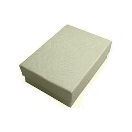 Cardboard Jewelry Gift Boxes White W Pattern 2 1 8 X1 5 8 100pcs